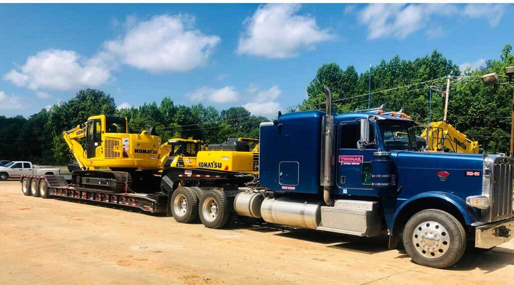 Thomas Trucking RGN Equipment Heavy Haul